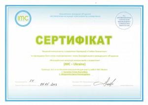 сертификат Всеукраинской ассоциации консультантов